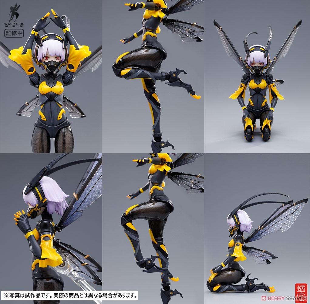 モグモ イラスト『BEE-03W WASP GIRL ブンちゃん』ワスプ ガール 1/12 可動フィギュア-007