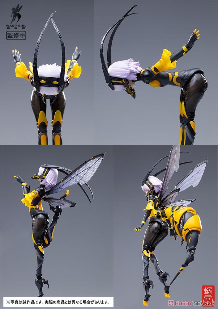 モグモ イラスト『BEE-03W WASP GIRL ブンちゃん』ワスプ ガール 1/12 可動フィギュア-008