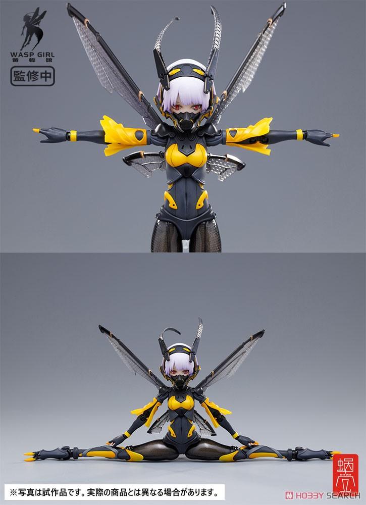 モグモ イラスト『BEE-03W WASP GIRL ブンちゃん』ワスプ ガール 1/12 可動フィギュア-009