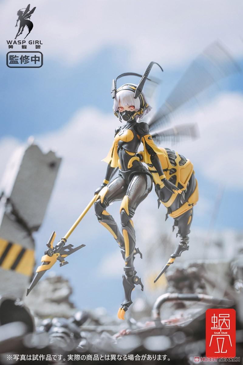 モグモ イラスト『BEE-03W WASP GIRL ブンちゃん』ワスプ ガール 1/12 可動フィギュア-014