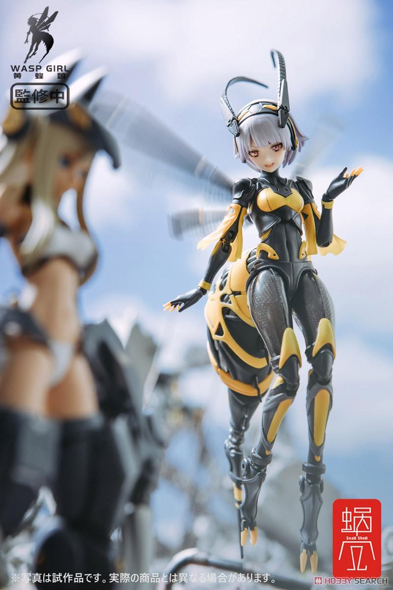 モグモ イラスト『BEE-03W WASP GIRL ブンちゃん』ワスプ ガール 1/12 可動フィギュア-016