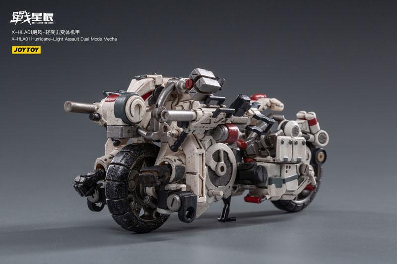 バトル フォー ザ スター『X-HH01 ハリケーン ライト アサルト デュアルモード メカ』1/18 可変可動フィギュア-009