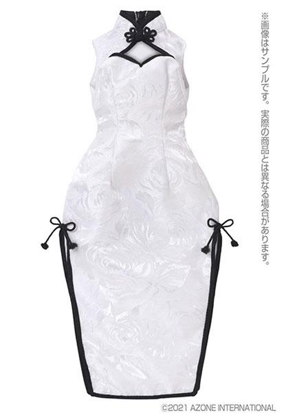 AZO2『チャイナドレス~華咲く薔薇~[ホワイト×ブラック]』1/3 ドール服