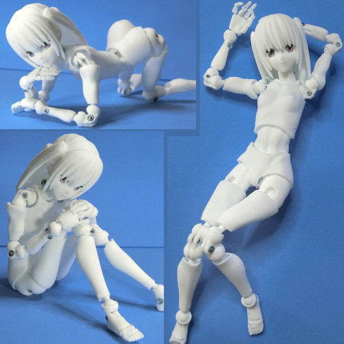 里好『漫画家の作った1/6可動デッサンドール2少女』3Dプリンタ製デッサンドール組み立てキット-001