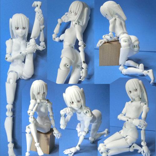 里好『漫画家の作った1/6可動デッサンドール2少女』3Dプリンタ製デッサンドール組み立てキット-002