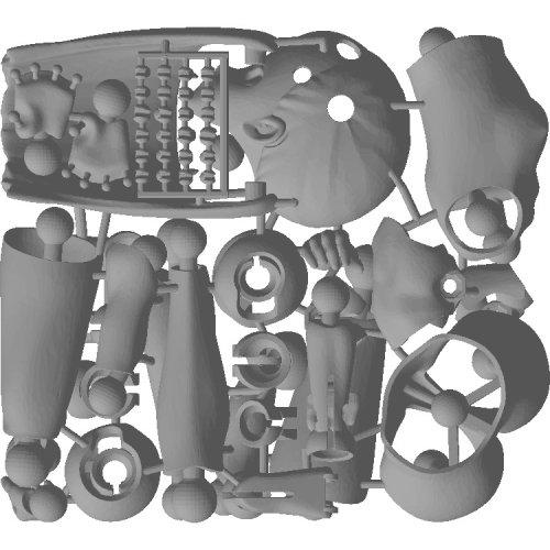 里好『漫画家の作った1/6可動デッサンドール2少女』3Dプリンタ製デッサンドール組み立てキット-004