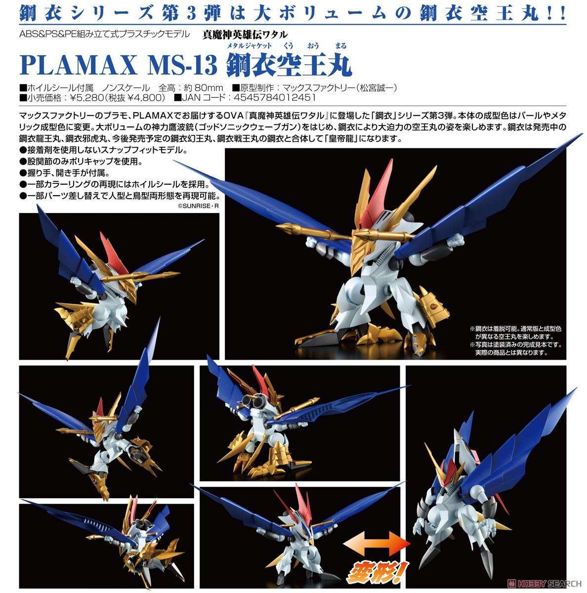 PLAMAX MS-13『鋼衣空王丸』真魔神英雄伝ワタル プラモデル-008