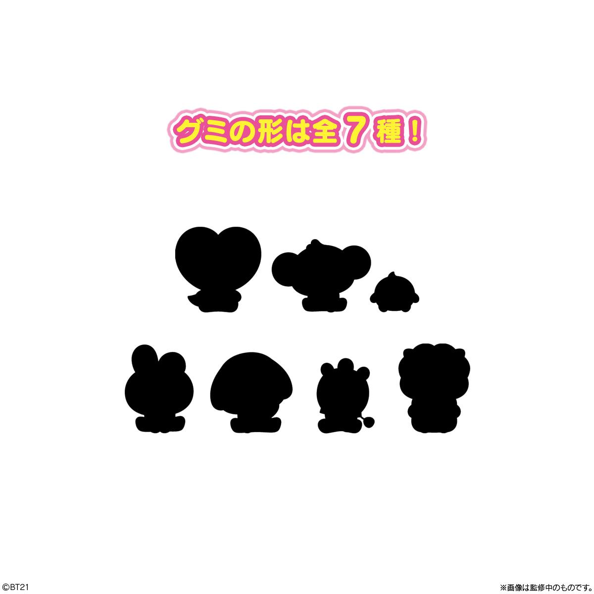 【食玩】BT21『BT21ぷっくりラバマスグミ』12個入りBOX-002