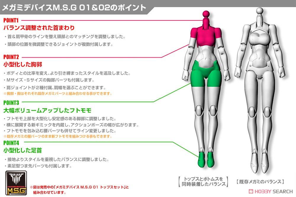 メガミデバイスM.S.G 02『ボトムスセット スキンカラーC』1/1 プラモデル-015