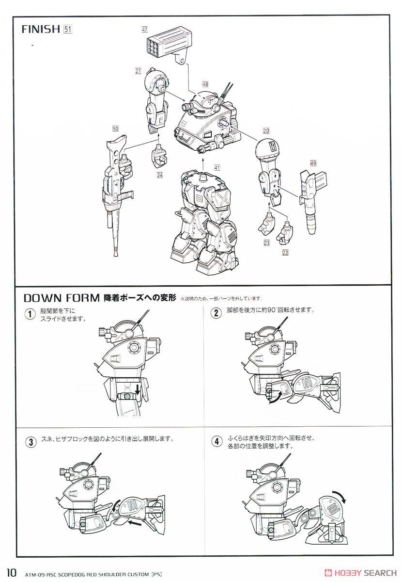 【再販】装甲騎兵ボトムズ『スコープドッグ レッドショルダーカスタム[PS版]』1/35 プラモデル-027
