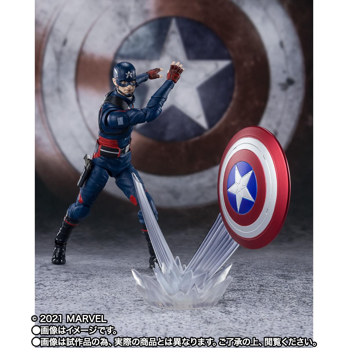 【限定販売】S.H.Figuarts『キャプテン・アメリカ(ジョン・ウォーカー)』ファルコン&ウィンター・ソルジャー 可動フィギュア-006