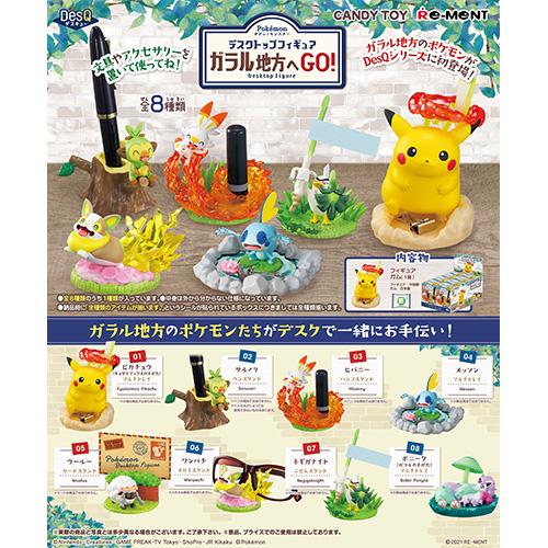 ポケットモンスター『Pokemon DesQ デスクトップフィギュア ガラル地方へGO!』8個入りBOX