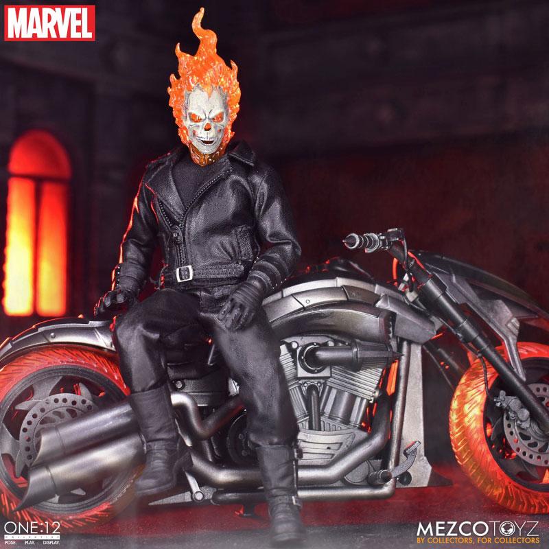 ワン12コレクティブ『ゴーストライダー with ヘルバイク』マーベルコミック 1/12 可動フィギュア-001