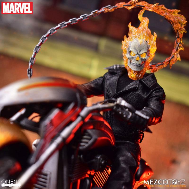 ワン12コレクティブ『ゴーストライダー with ヘルバイク』マーベルコミック 1/12 可動フィギュア-007