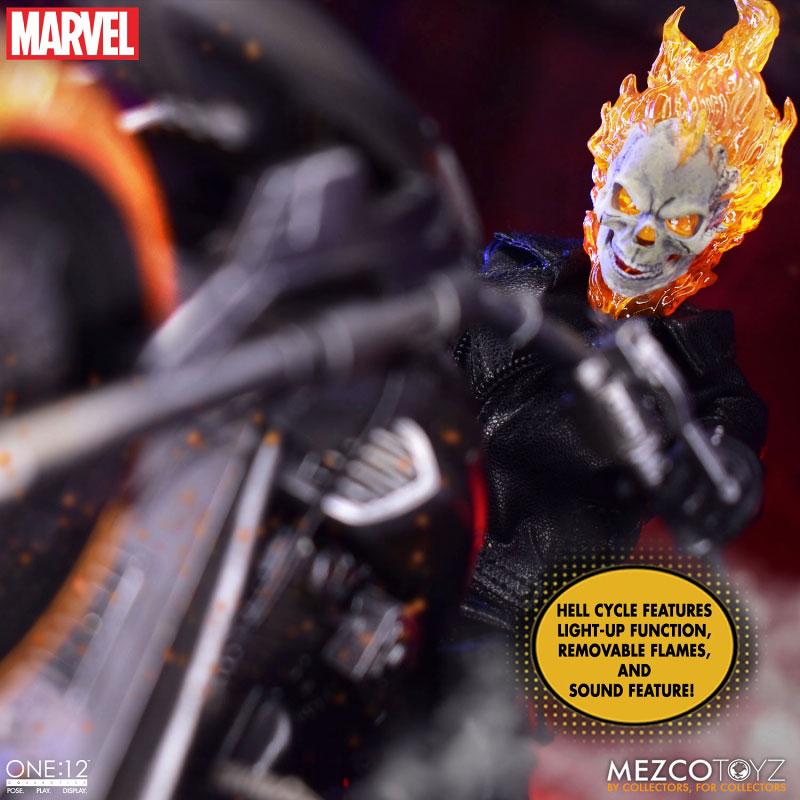 ワン12コレクティブ『ゴーストライダー with ヘルバイク』マーベルコミック 1/12 可動フィギュア-008