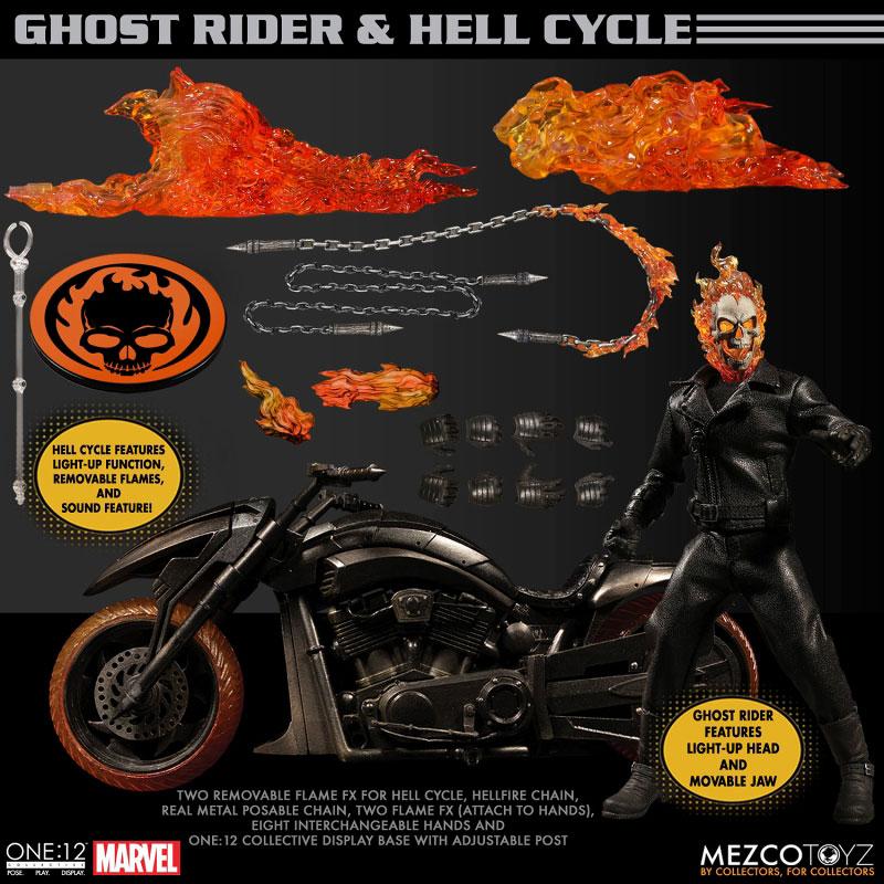 ワン12コレクティブ『ゴーストライダー with ヘルバイク』マーベルコミック 1/12 可動フィギュア-017