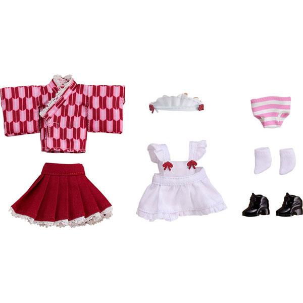 ねんどろいどどーる『おようふくセット 和風メイド 桜色』ドール服