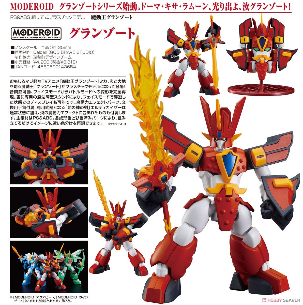 MODEROID『グランゾート』魔動王グランゾート プラモデル-008