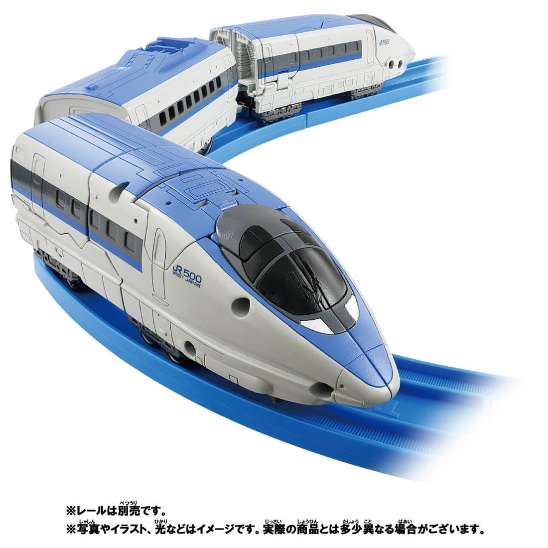 新幹線変形ロボ シンカリオンZ『シンカリオンZ 500オオサカカンジョウセット』可変合体プラレール-007