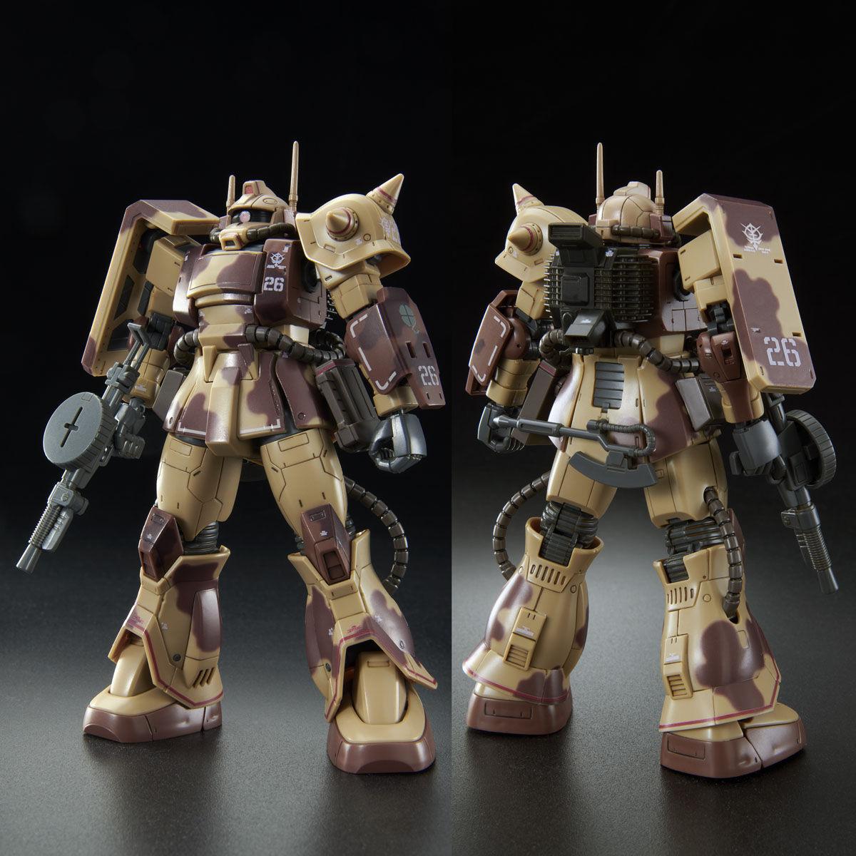 【限定販売】HG 1/144『ザク・デザートタイプ(ダブルアンテナ仕様)』プラモデル-003
