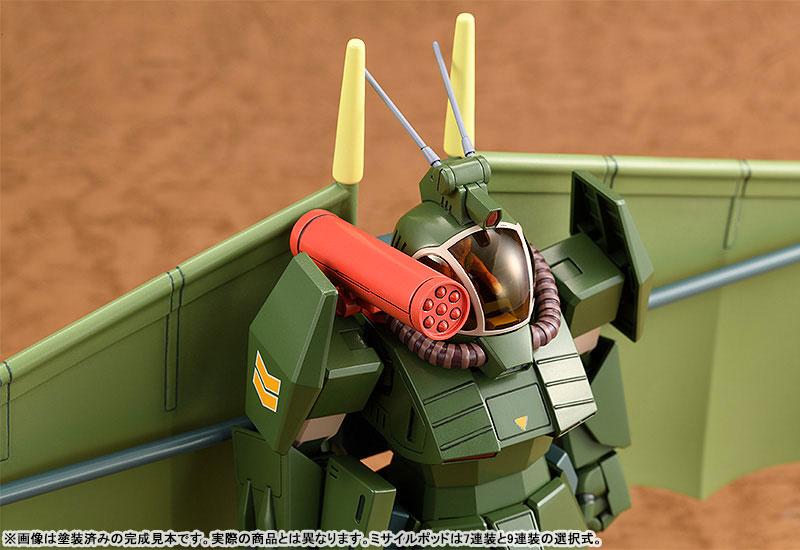 COMBAT ARMORS MAX25『ソルティック H8 ラウンドフェイサー ハングライダー装着タイプ』1/72 プラモデル-004