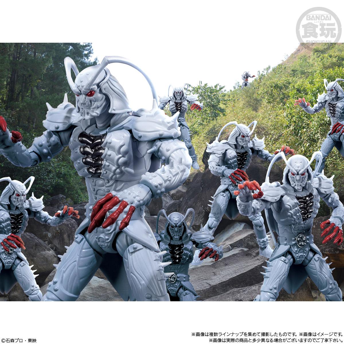 【食玩】SHODO-O『仮面ライダー7』可動フィギュア 10個入りBOX-010