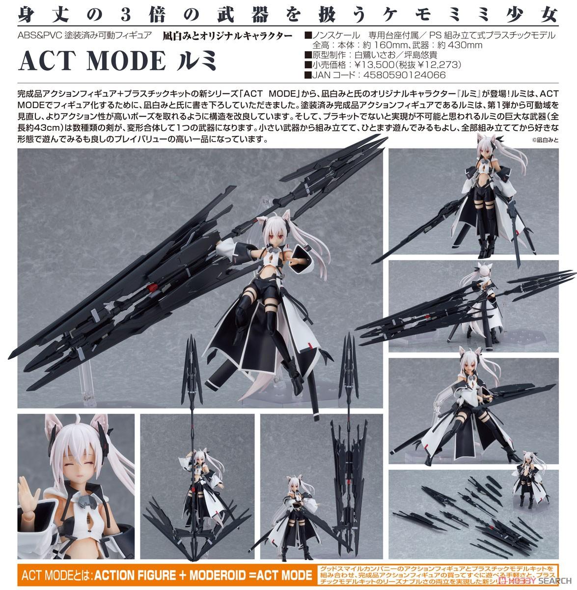ACT MODE『凪白みとオリジナルキャラクター ルミ 』可動フィギュア&プラモデル-009