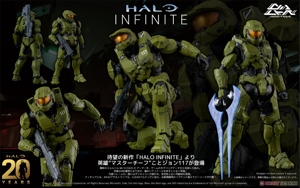 RE:EDIT HALO INFINITE『Master Chief MJOLNIR Mark VI [GEN 3]/マスターチーフ:ミョルニル・アーマー マーク4』ヘイロー 1/12 可動フィギュア-009