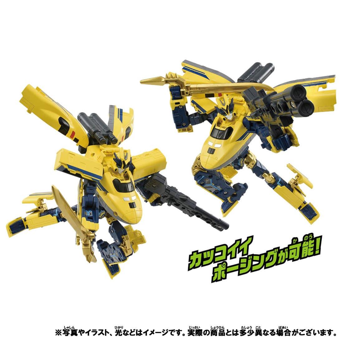 新幹線変形ロボ シンカリオンZ『シンカリオンZ ドクターイエロー』可変合体プラレール-006
