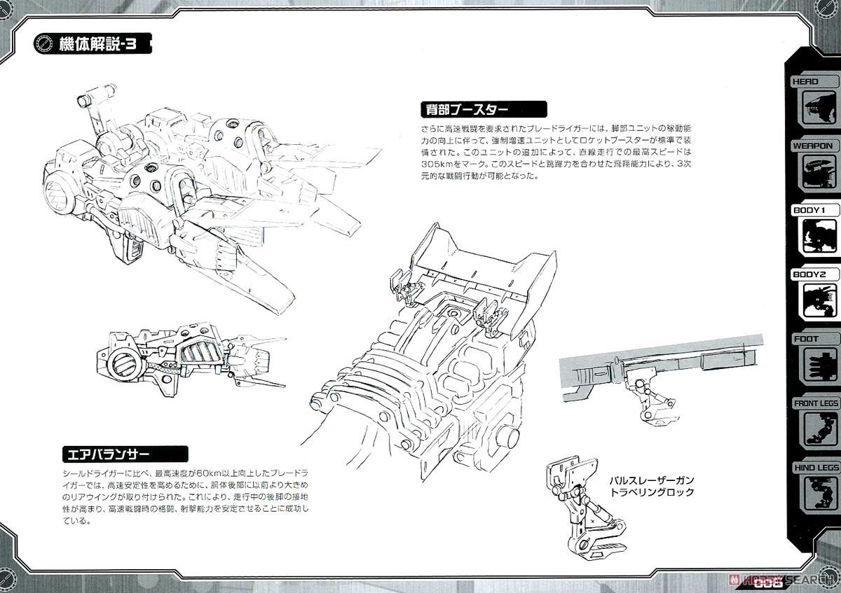 【再販】HMM『RZ-028 ブレードライガーAB』ゾイド 1/72 プラモデル-033