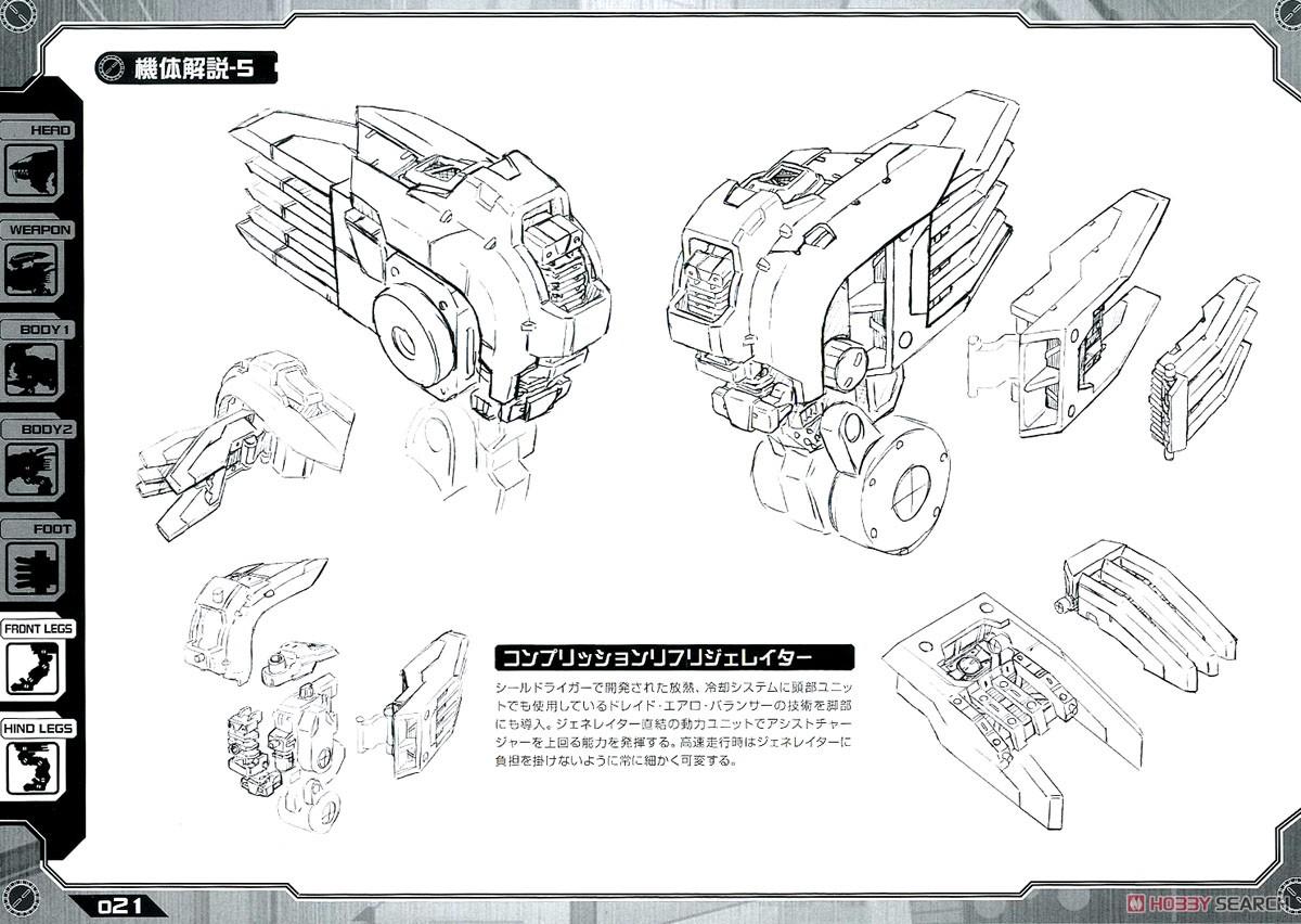 【再販】HMM『RZ-028 ブレードライガーAB』ゾイド 1/72 プラモデル-035