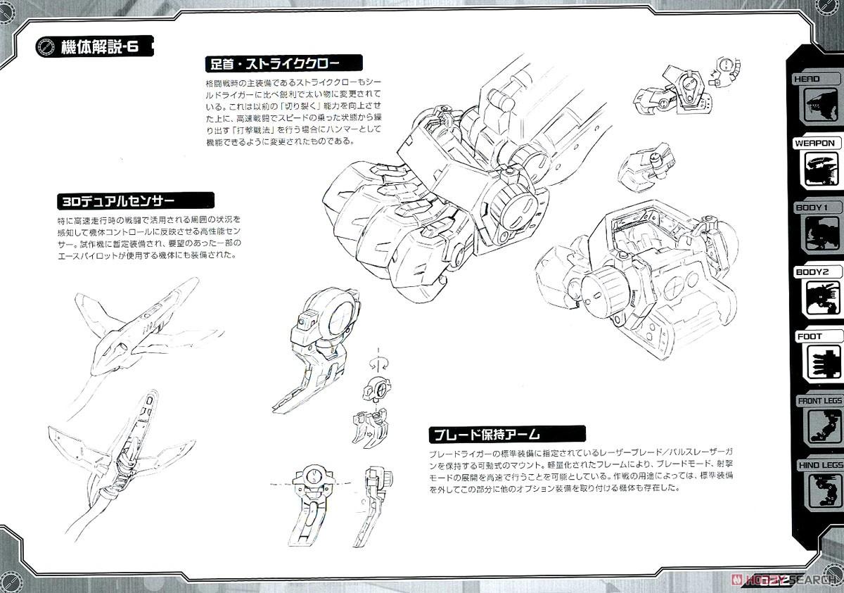 【再販】HMM『RZ-028 ブレードライガーAB』ゾイド 1/72 プラモデル-036