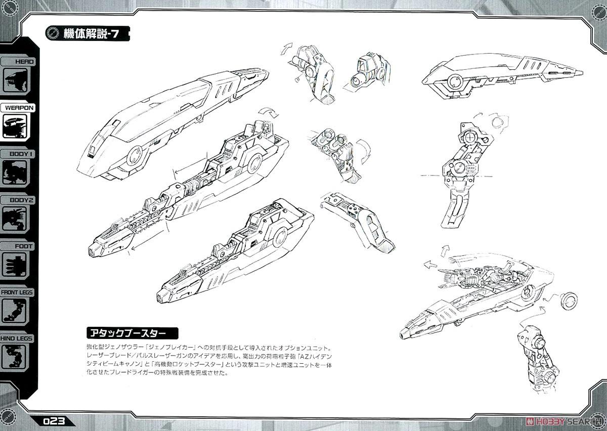 【再販】HMM『RZ-028 ブレードライガーAB』ゾイド 1/72 プラモデル-037