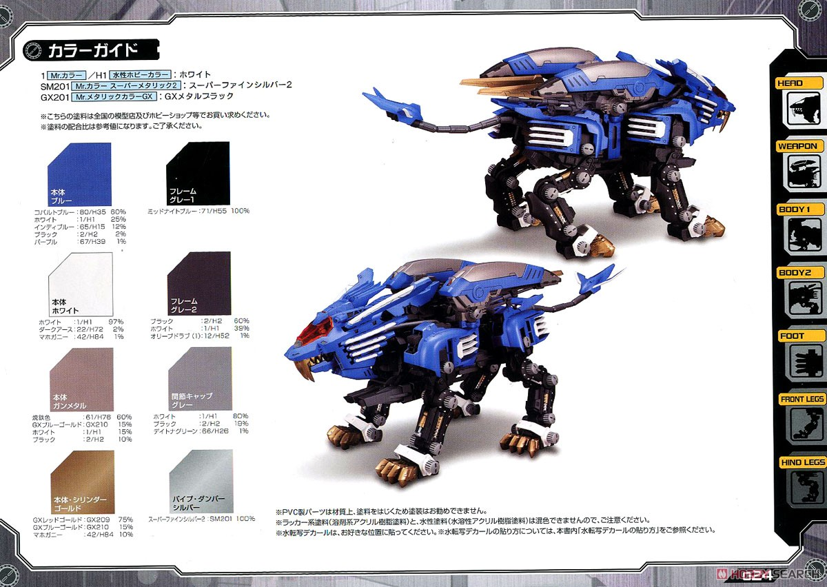 【再販】HMM『RZ-028 ブレードライガーAB』ゾイド 1/72 プラモデル-038