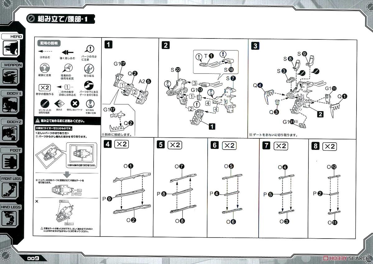 【再販】HMM『RZ-028 ブレードライガーAB』ゾイド 1/72 プラモデル-042