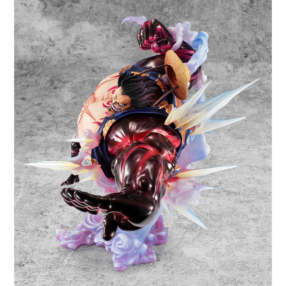 """【限定販売】Portrait.Of.Pirates ワンピース """"SA-MAXIMUM""""『モンキー・D・ルフィ ギア""""4""""「弾む男」Ver.2』完成品フィギュア-006"""