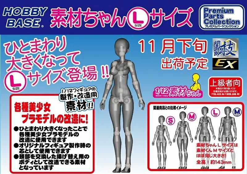 プレミアムパーツコレクション『関節技EX 1/12素材ちゃん Lサイズ【フレッシュ】』可動素材-001