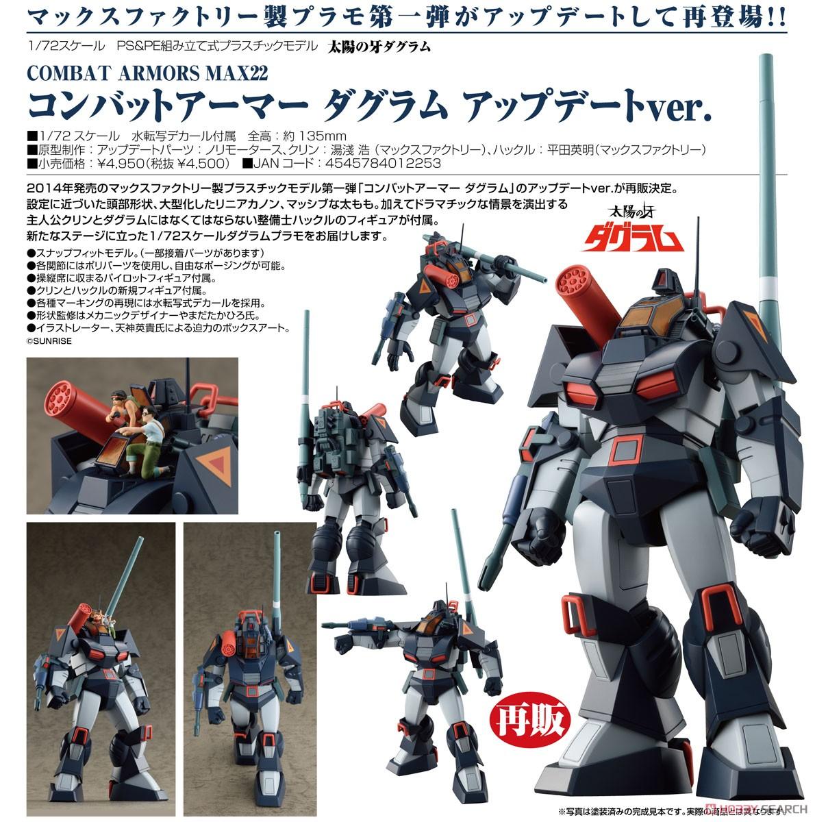 【再販】COMBAT ARMORS MAX22『コンバットアーマー ダグラム アップデートver.』1/72 プラモデル-008