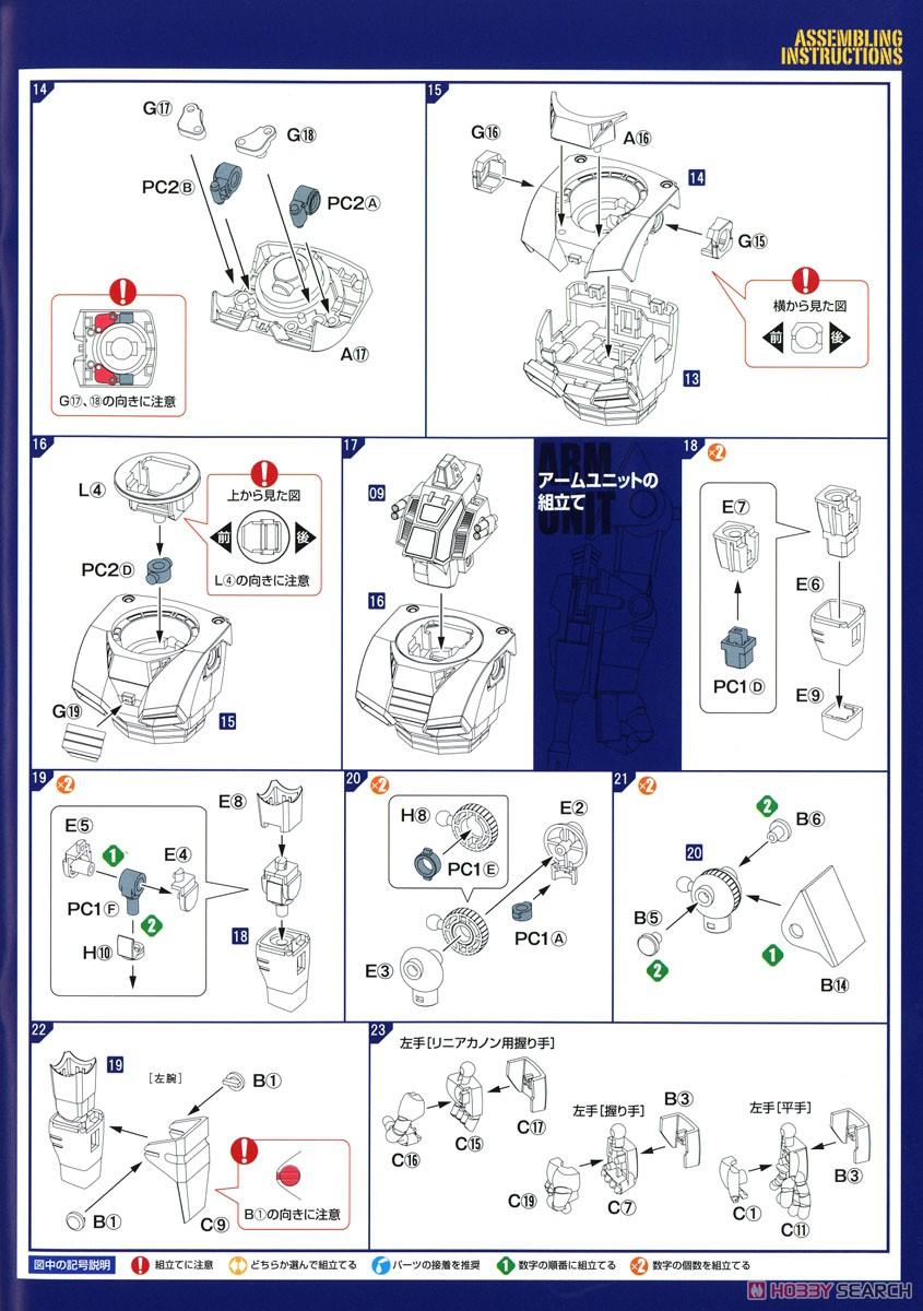 【再販】COMBAT ARMORS MAX22『コンバットアーマー ダグラム アップデートver.』1/72 プラモデル-018