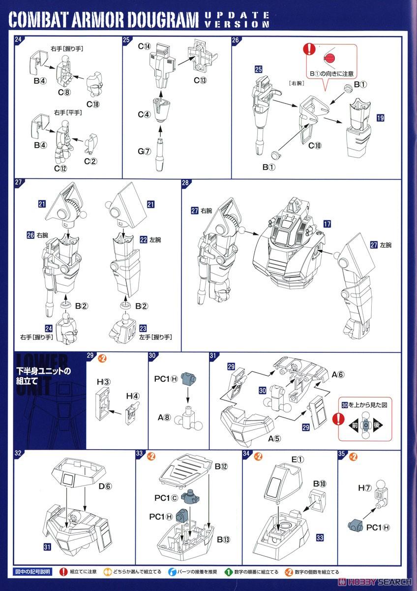 【再販】COMBAT ARMORS MAX22『コンバットアーマー ダグラム アップデートver.』1/72 プラモデル-019