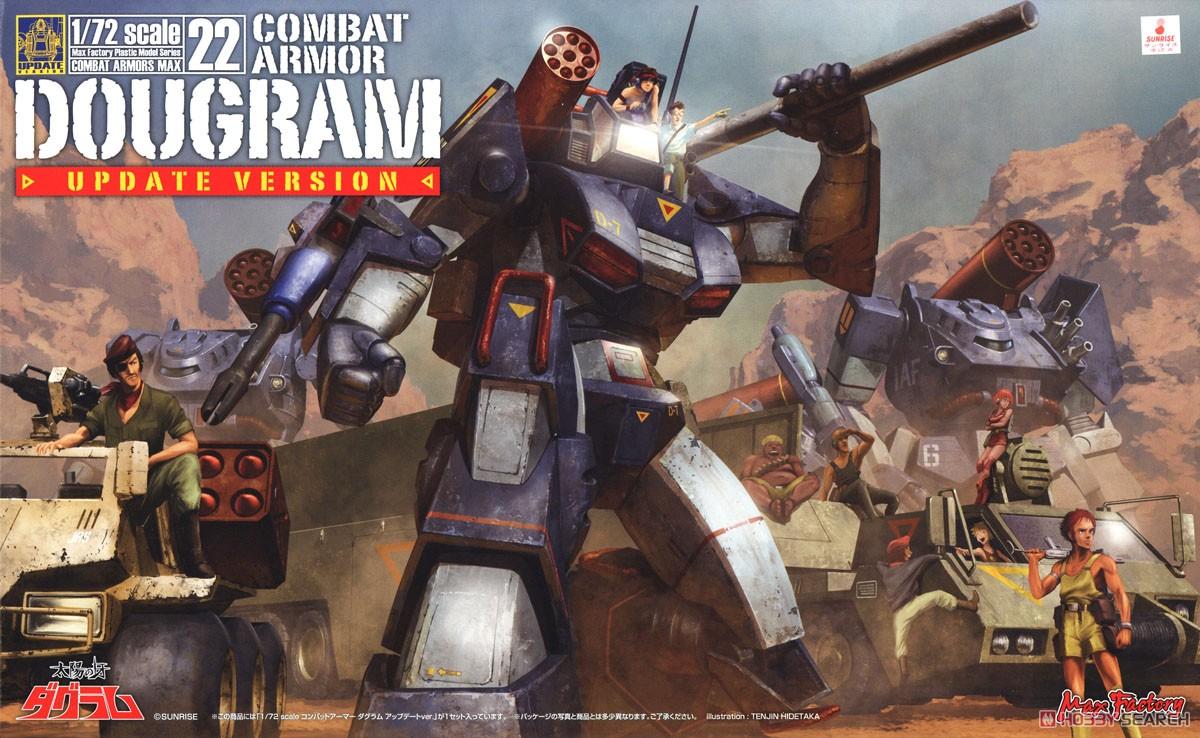 【再販】COMBAT ARMORS MAX22『コンバットアーマー ダグラム アップデートver.』1/72 プラモデル-023