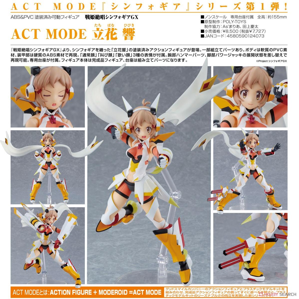 ACT MODE『立花響』戦姫絶唱シンフォギアGX 可動フィギュア-008