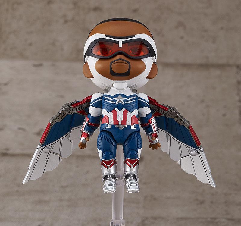ねんどろいど『キャプテン・アメリカ(サム・ウィルソン)DX』ファルコン&ウィンター・ソルジャー デフォルメ可動フィギュア-005