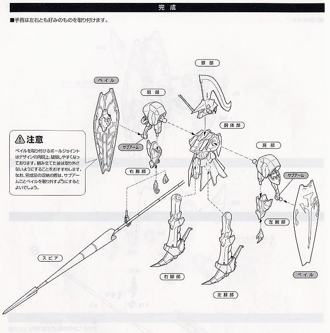 【再販】ファイブスター物語『レッドミラージュ サリオン騎』1/144 プラモデル-016
