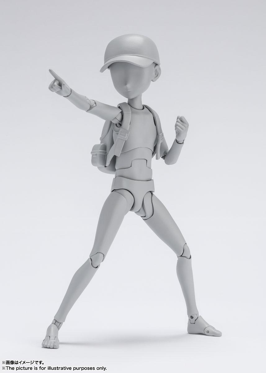 S.H.Figuarts『ボディちゃん -杉森建- Edition DX SET (Gray Color Ver.)』可動フィギュア-007