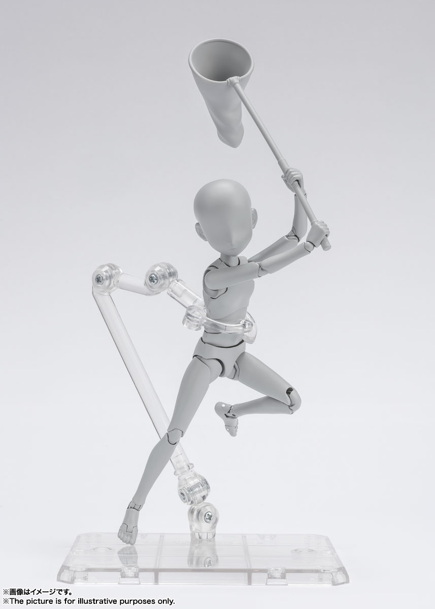 S.H.Figuarts『ボディちゃん -杉森建- Edition DX SET (Gray Color Ver.)』可動フィギュア-010