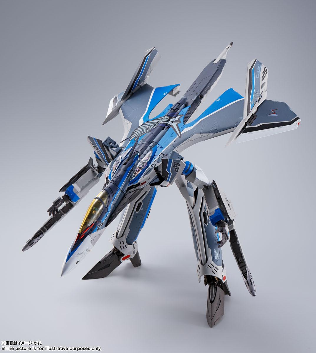 DX超合金『初回限定版 VF-31AX カイロスプラス(ハヤテ・インメルマン機)』マクロスΔ 可変可動フィギュア-009