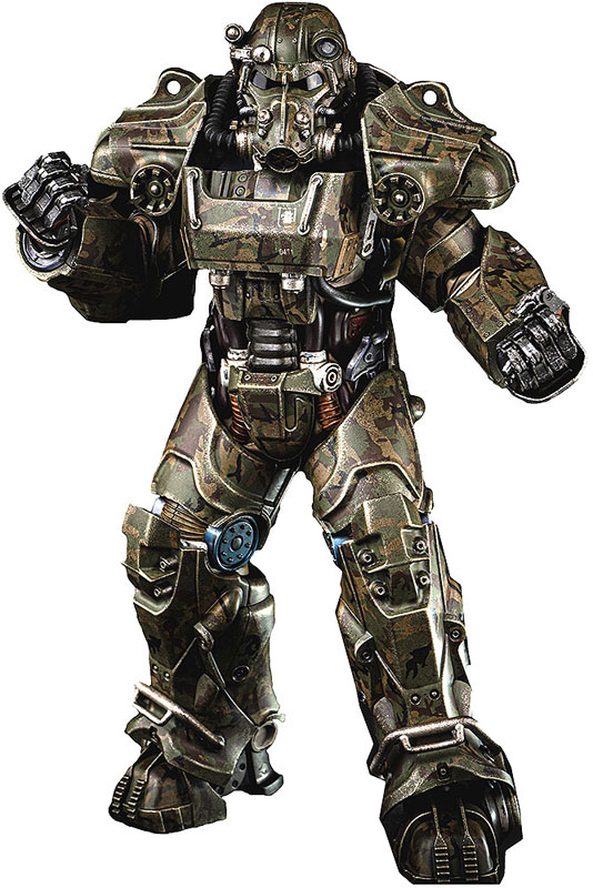 Fallout『T‐60 Camouflage Power Armor(T-60 迷彩パワーアーマー)』フォールアウト 1/6 可動フィギュア-001