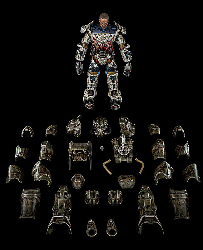 Fallout『T‐60 Camouflage Power Armor(T-60 迷彩パワーアーマー)』フォールアウト 1/6 可動フィギュア-002