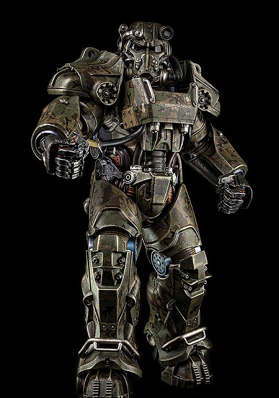 Fallout『T‐60 Camouflage Power Armor(T-60 迷彩パワーアーマー)』フォールアウト 1/6 可動フィギュア-005